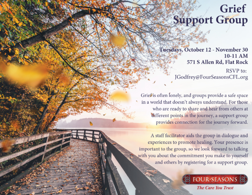 Grief Support Group Fall- Jessica Godfrey FINAL