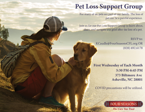 Pet Loss Support Group Flyer