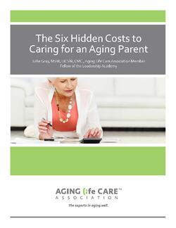 Six Hidden Costs To Caring For Aging Parent. Cover